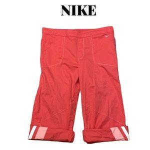 EUC Nike Salmon Pink Active Capris, Size Medium